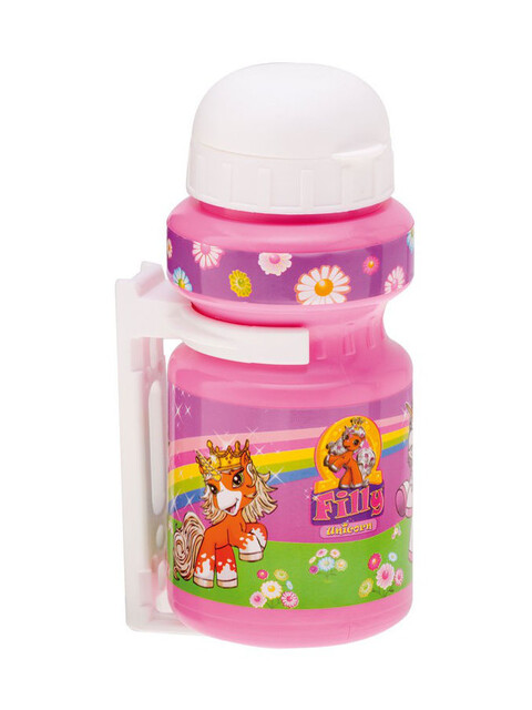 Bike Fashion Filly Unicorn Trinkflasche 300ml mit Halter violett